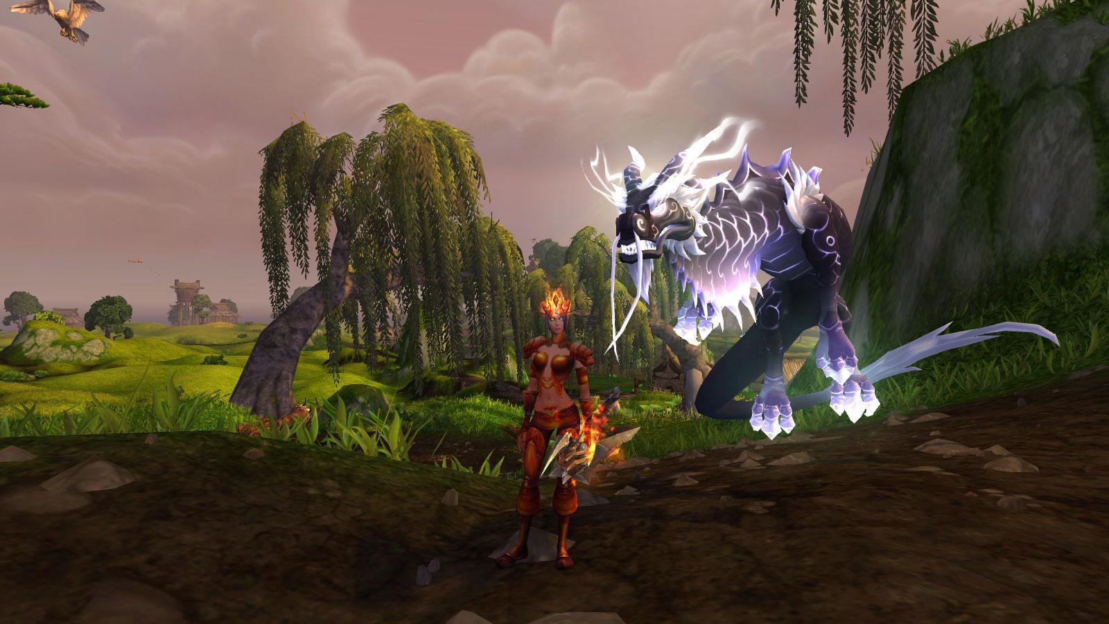 Le serpent-nuage peut-être dompté dans World of Warcraft
