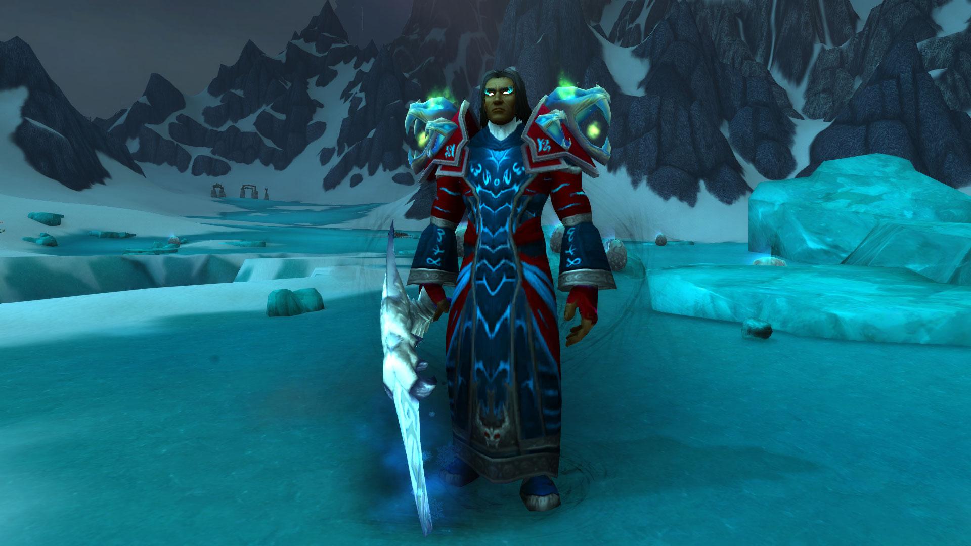 Bronjahm, habituellement trouvé à La Forge des Âmes, apparaît dans la Couronne de glace pendant le prepatch 9.0