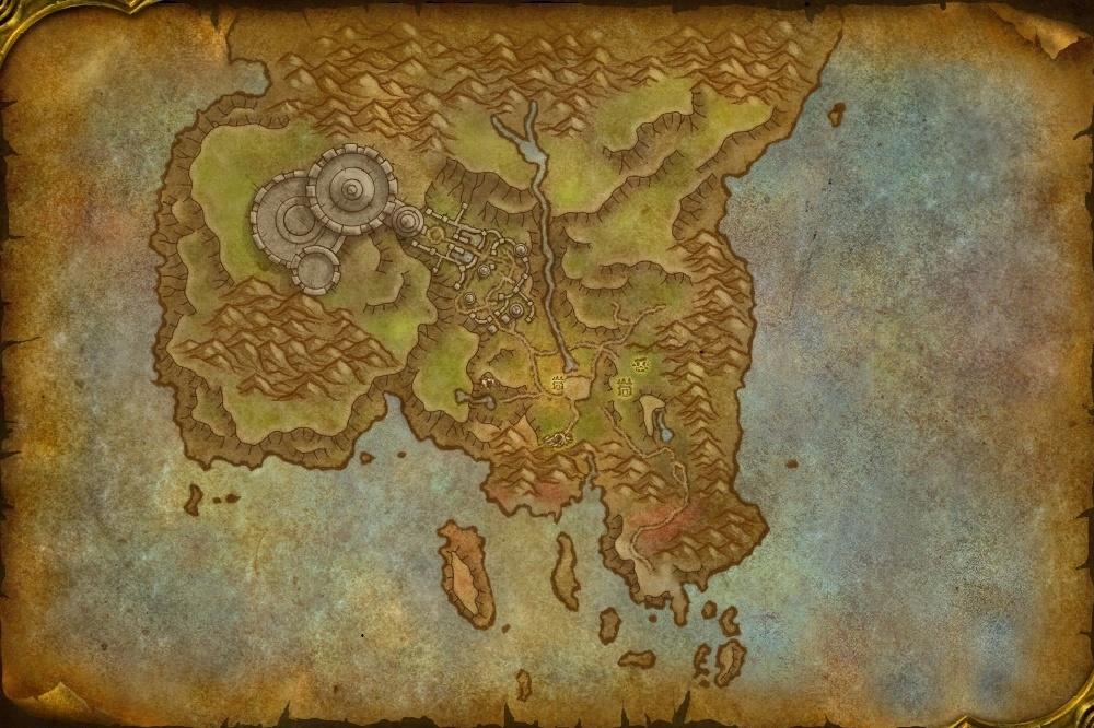 Carte du Confins de l'Exildans Shadowlands