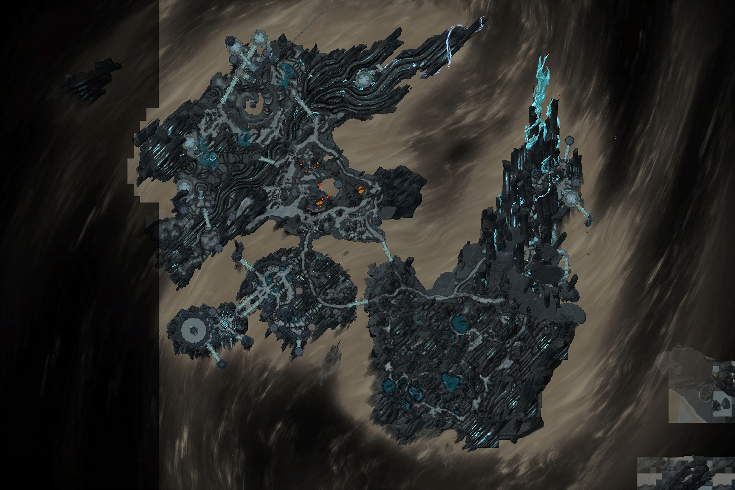 Carte de l'Antre dans Shadowlands