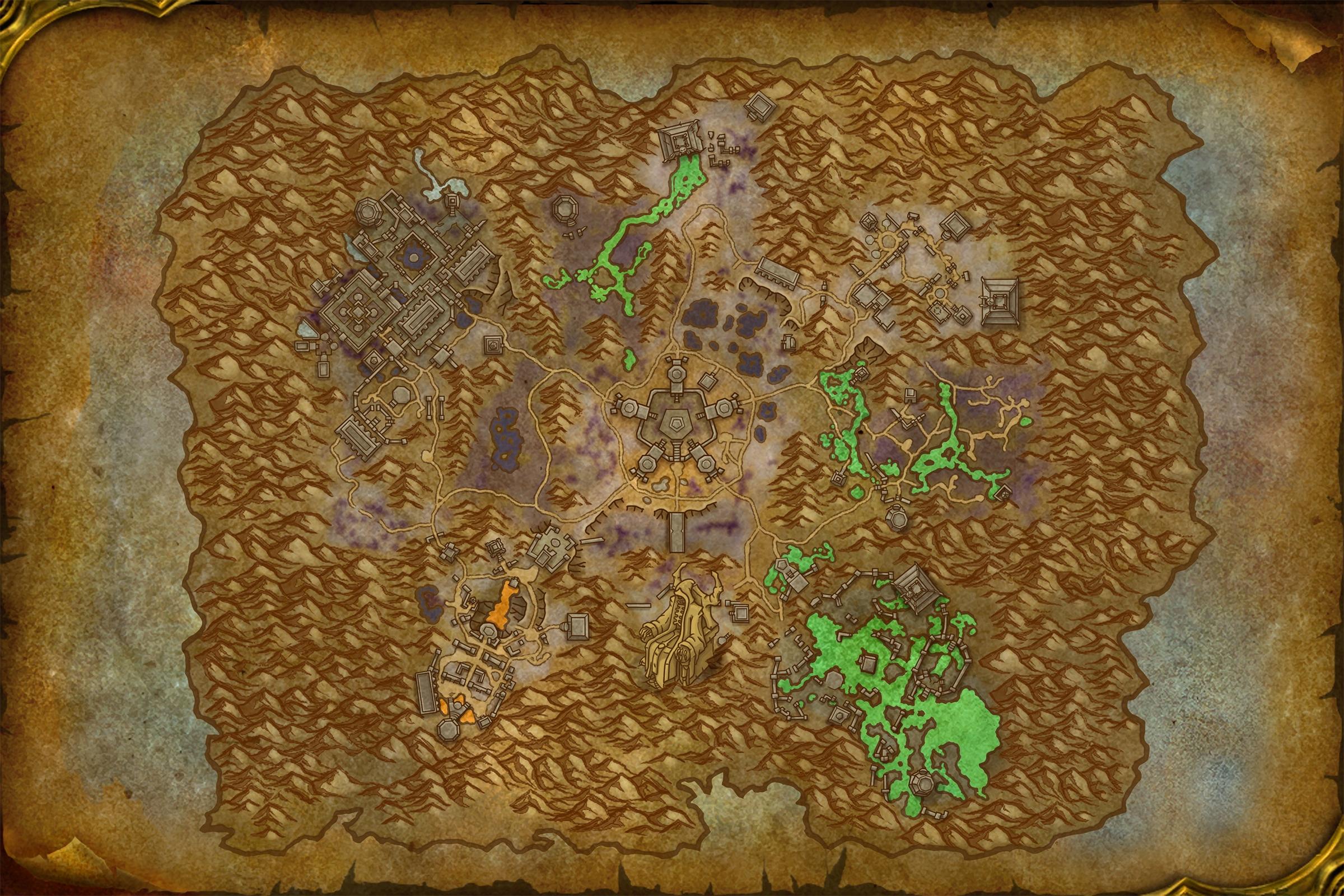 Carte de Maldraxxus dans Shadowlands