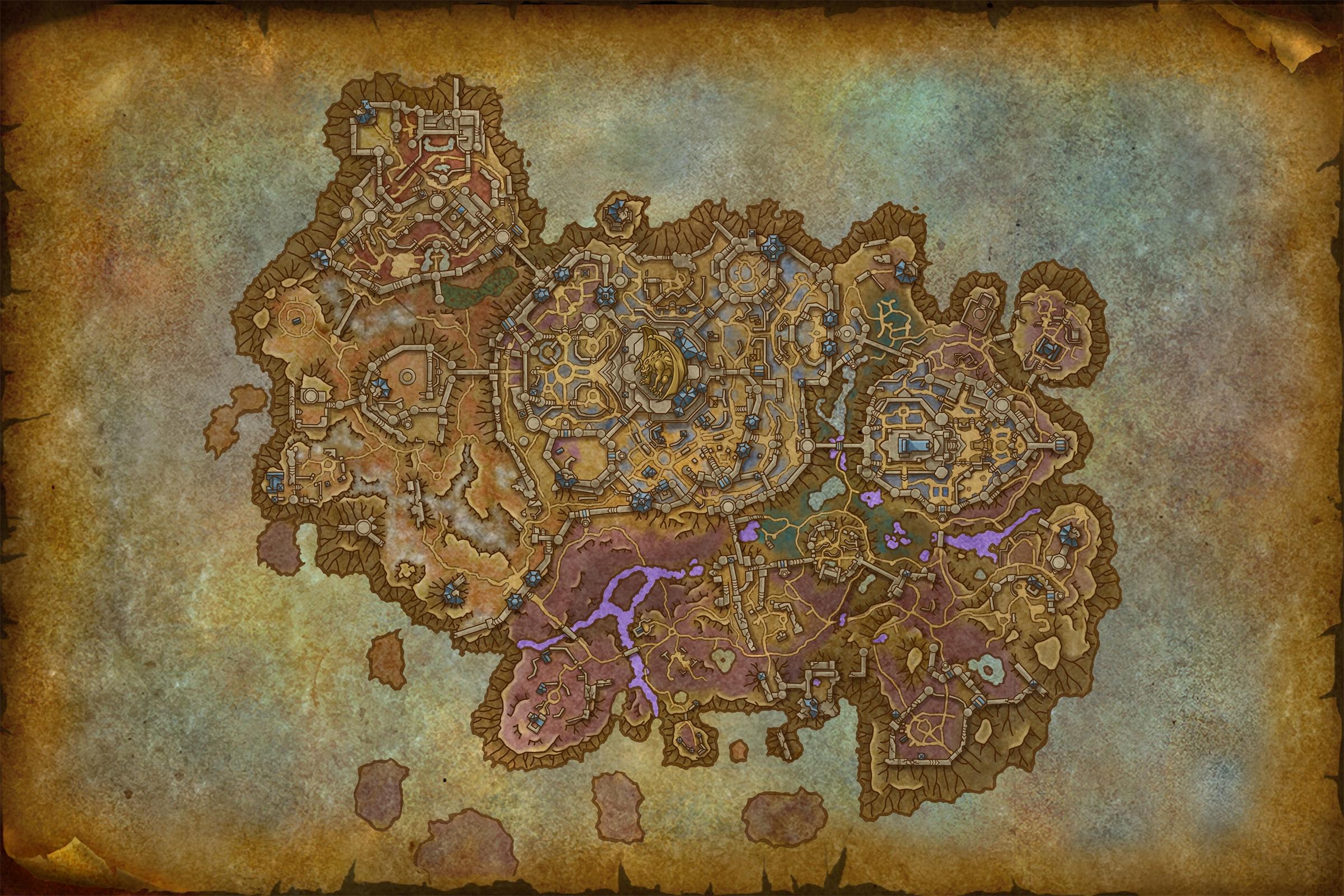 Carte de Revendreth dans Shadowlands