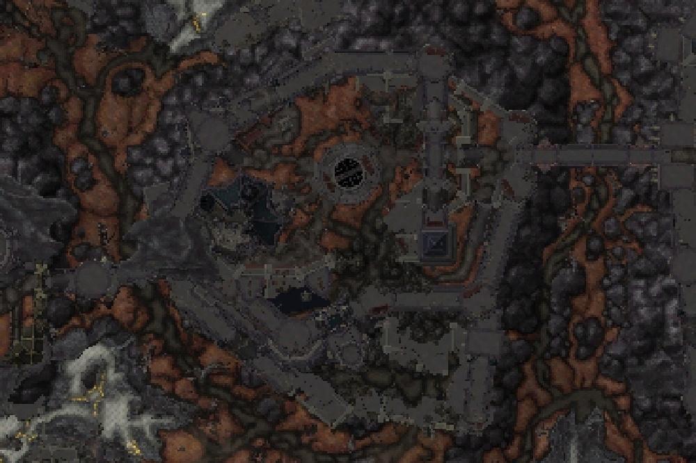 Carte de Sinfall dans Shadowlands