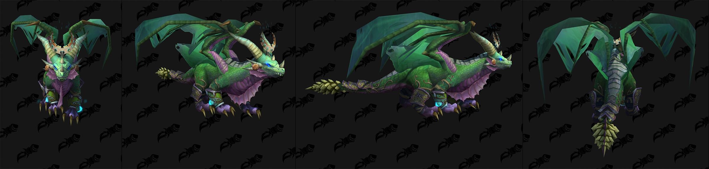 Modèle Ysera sous sa forme de dragon dans Shadowlands