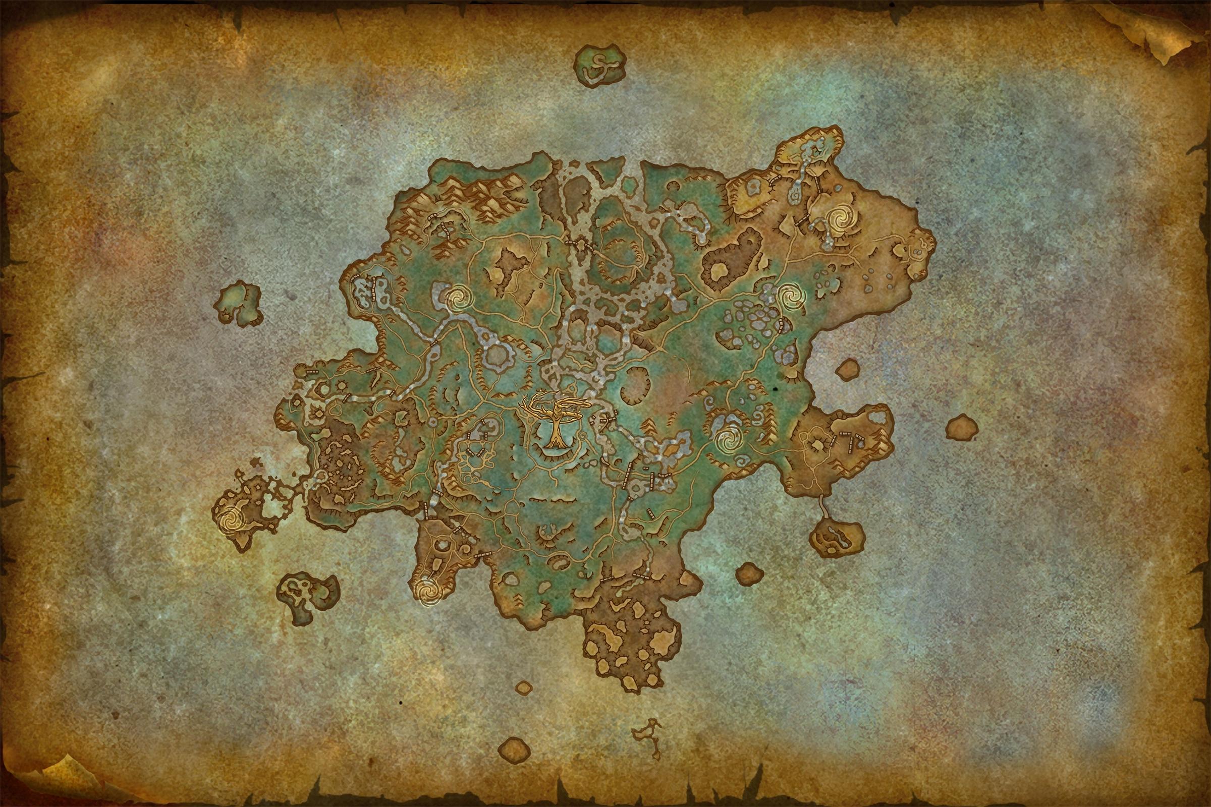 Carte de Sylvarden dans Shadowlands
