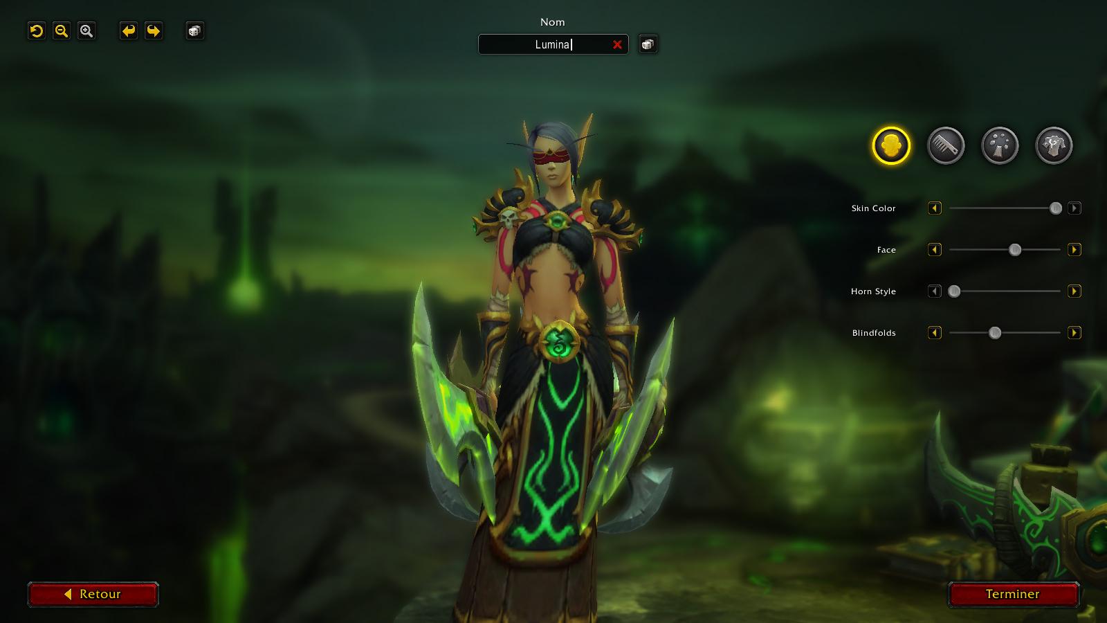 Nouvel écran de sélection lors de la création du personnage à Shadowlands