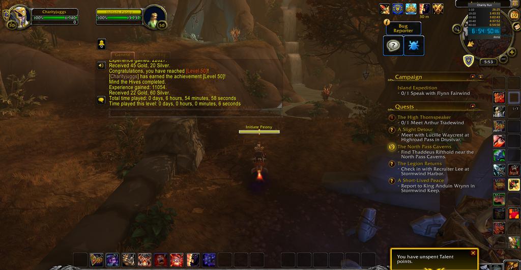 DesMephisto a testé sur l'alpha de Shadowlands le leveling 1 à 50