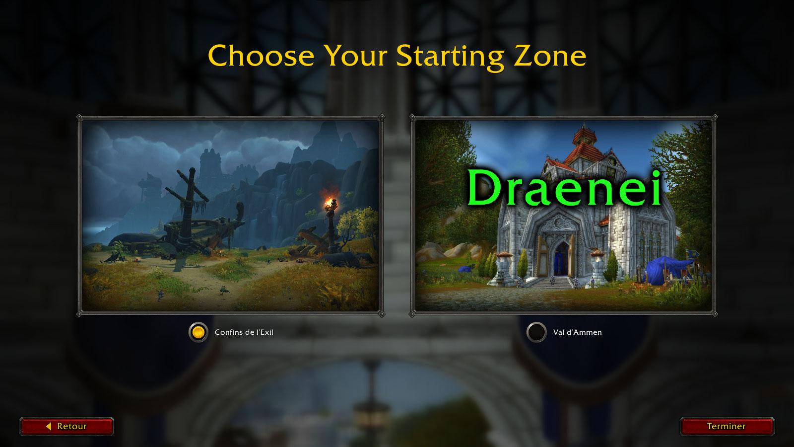 Les anciens joueurs auront le choix entre les confins de l'Exil ou la zone de départ classique