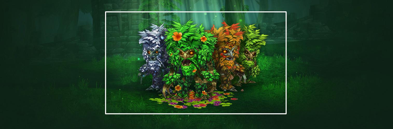 Lot n°4 : Mascotte Ancien en fleurs et 1 mois de temps de jeu