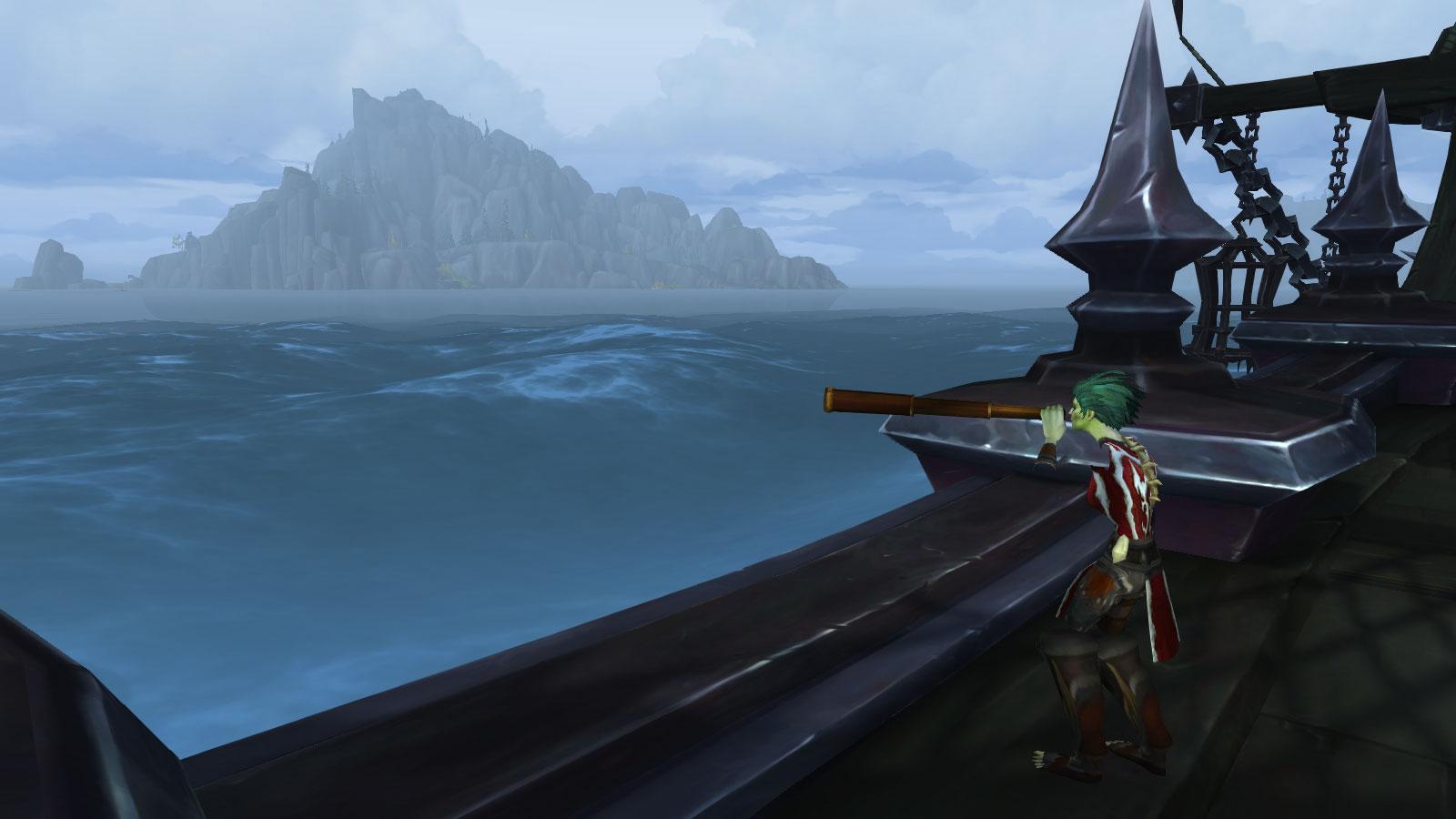 L'île des Confins de l'Exil se dessine à l'horizon