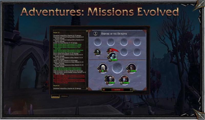 Envoyez des sujets en mission dans Shadowlands