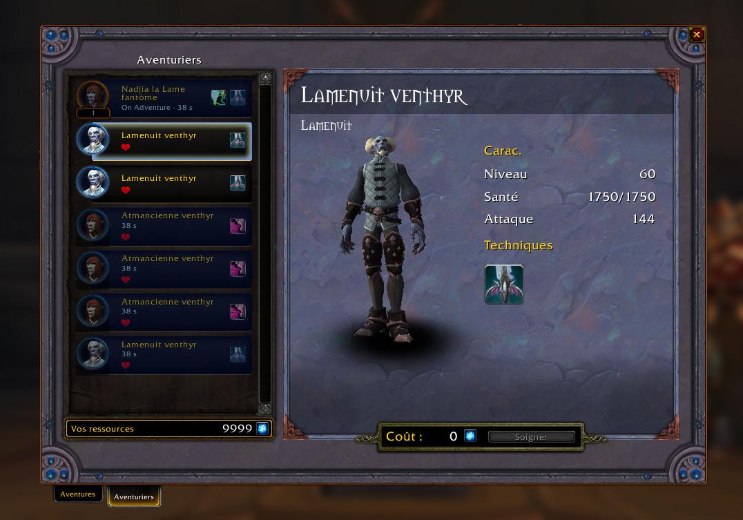 Shadowlands : Soldat Lamenuit Venthyr