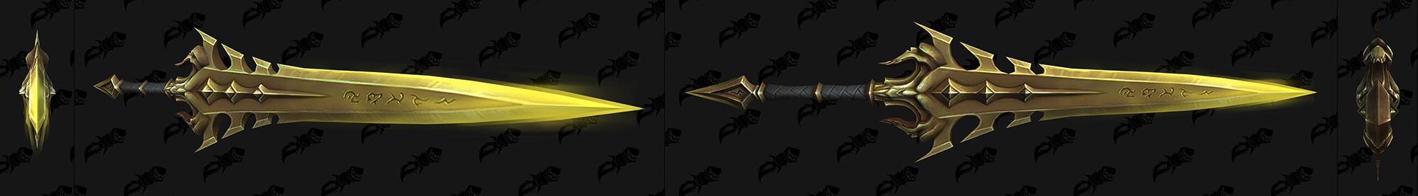 Shadowlands : nouveau modèle d'arme