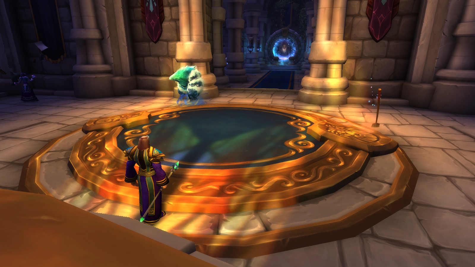 Nouveaux effets de lumière dans la salle aux portails de Hurlevent à Shadowlands