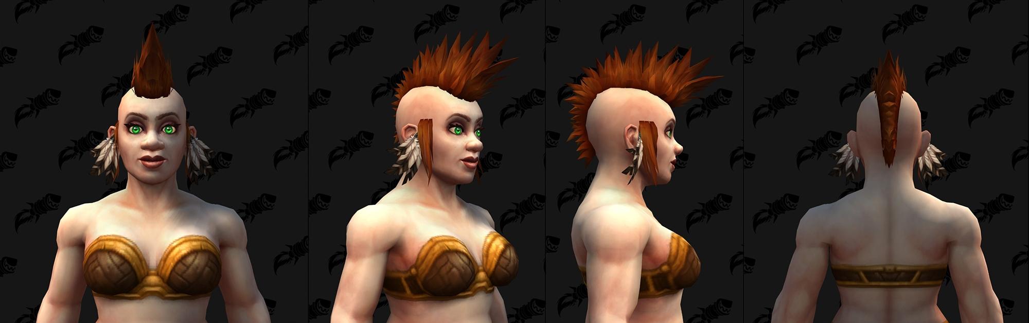 Shadowlands : Nouvelles boucles d'oreilles et plumes (Nain)