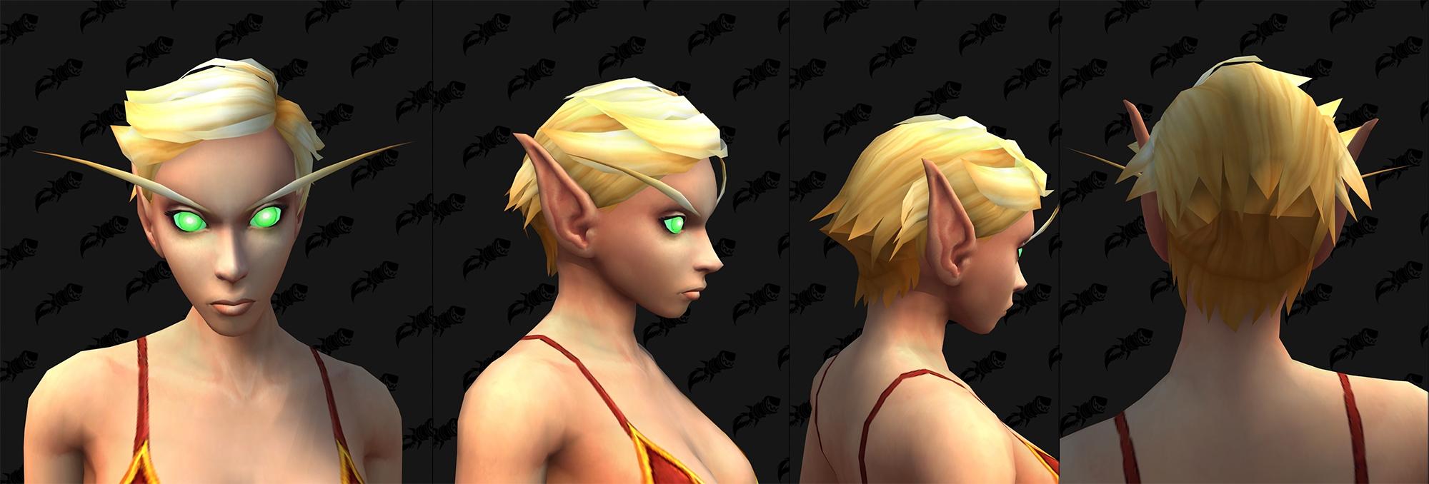 Option de personnalisation Elfe de sang : Nouvelles coupes de cheveux