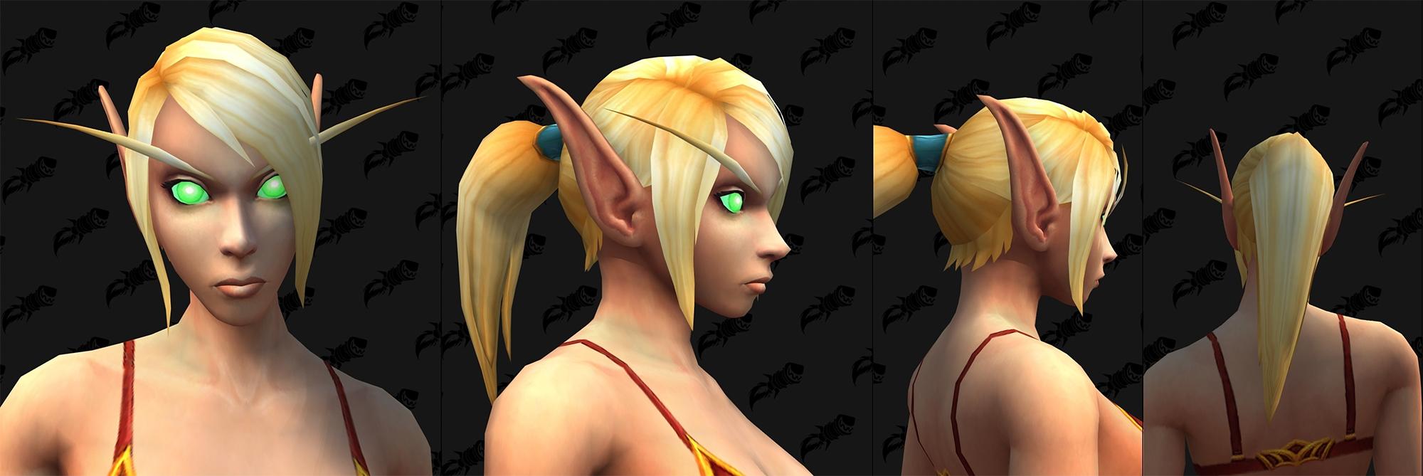 Option de personnalisation Elfe de sang : Taille des oreilles