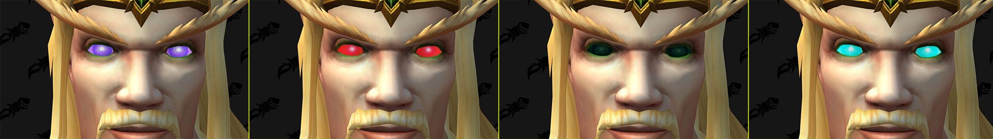 Option de personnalisation Elfe de sang : Nouvelles couleurs des yeux