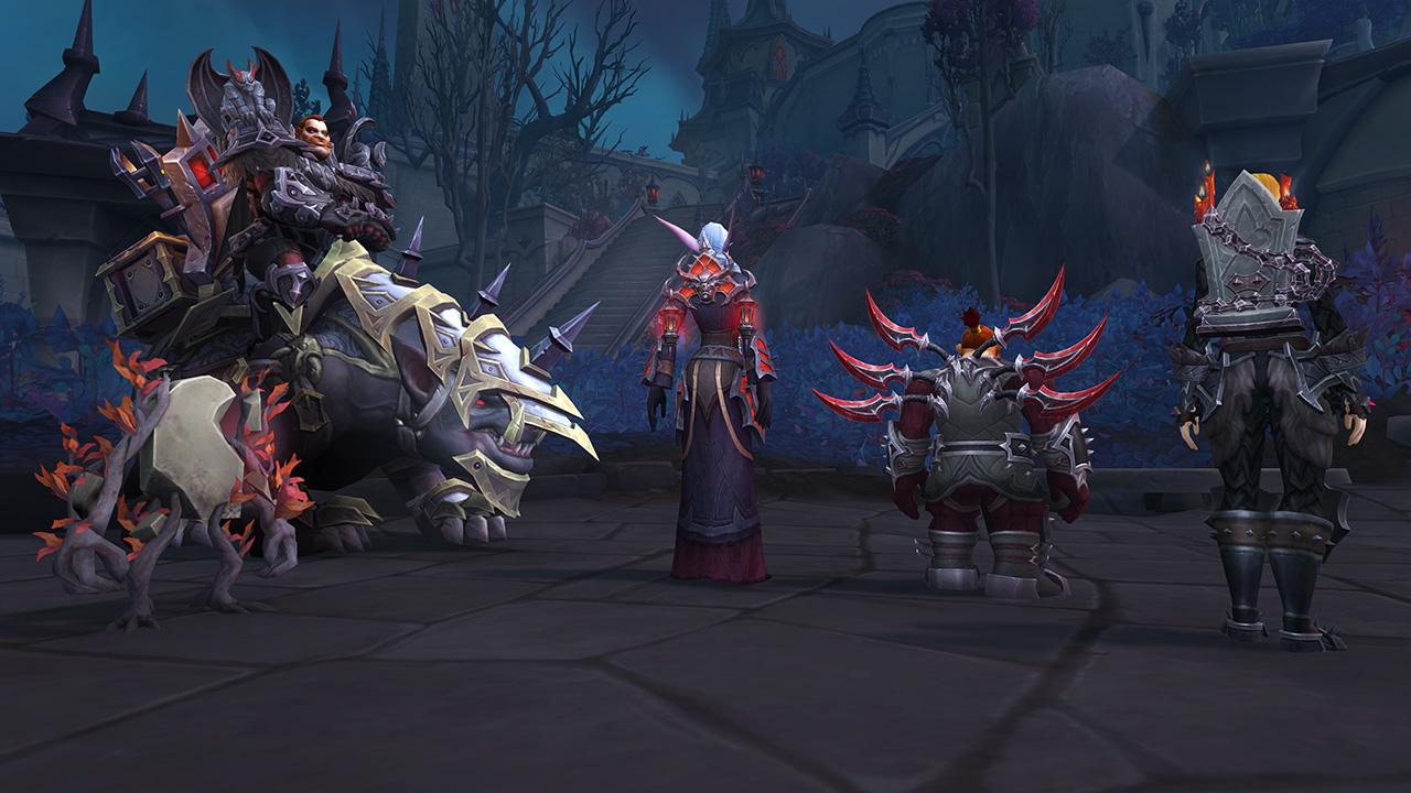 Ensemble d'armure, monture et mascotte disponible auprès des Venthrys grâce au Renom