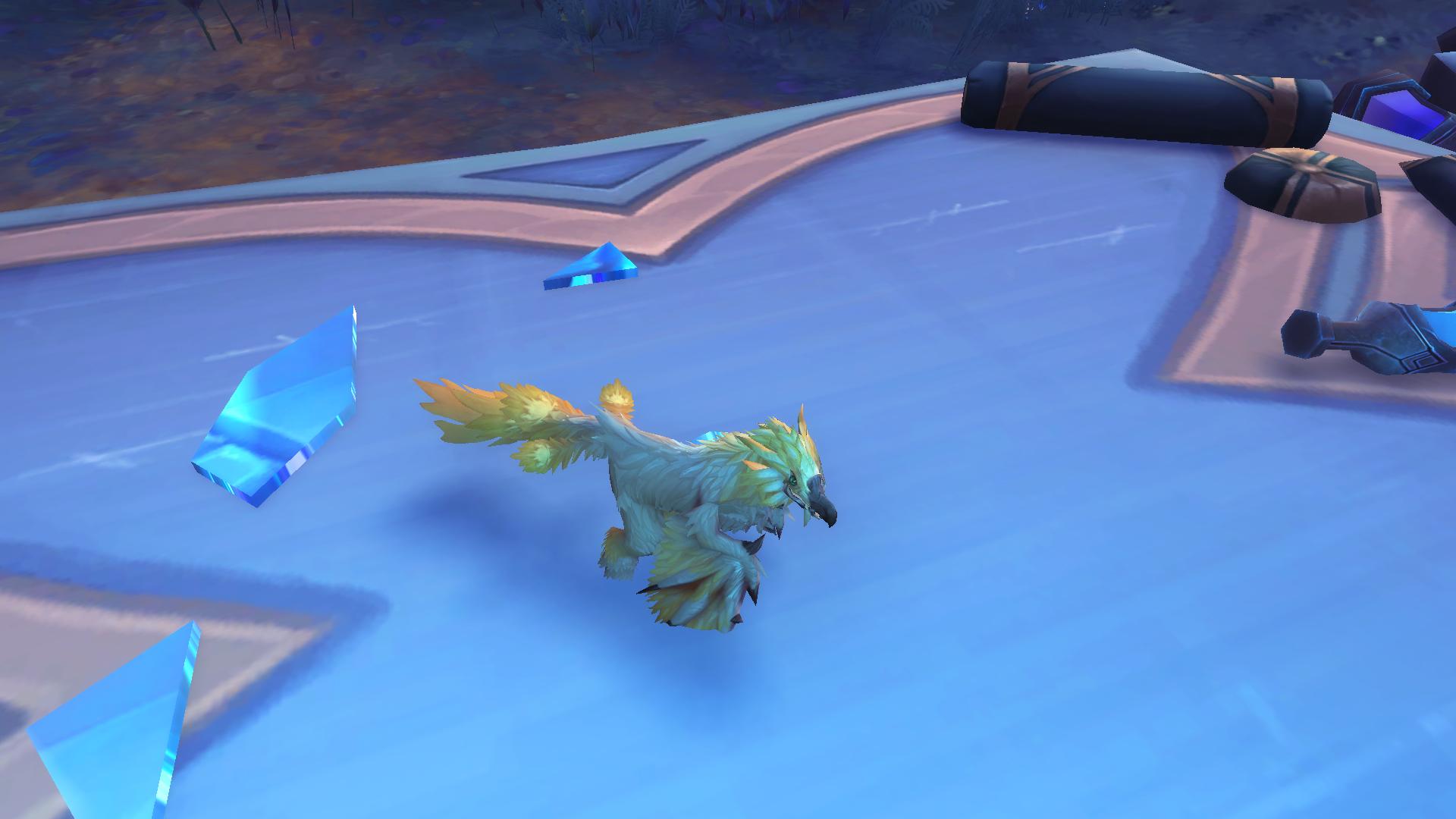 Plume-des-nuées doré, mascotte Shadowlands disponible dans la zone du Bastion