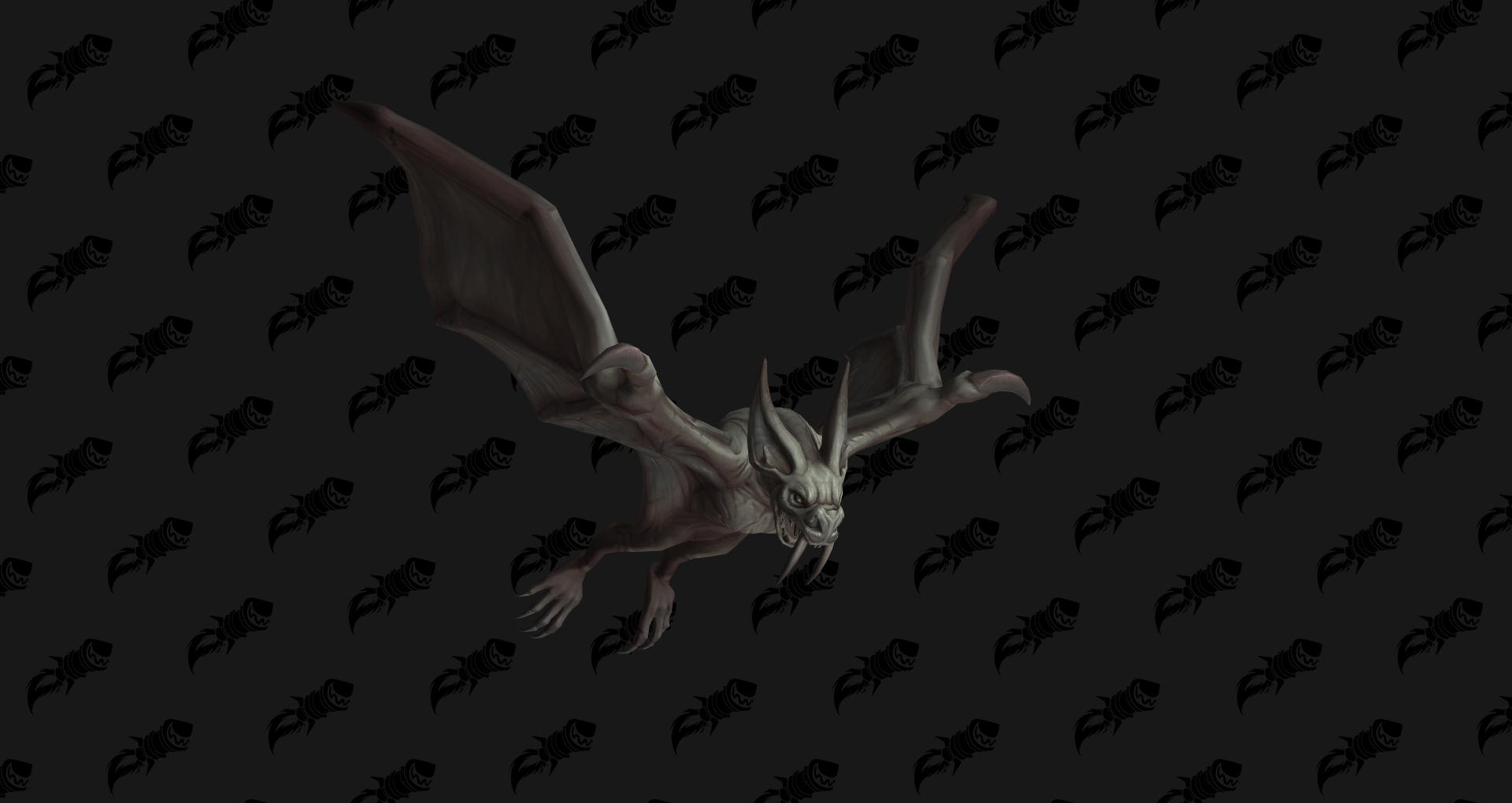 Jeune aile de l'effroi aile-de-pierre, mascotte Shadowlands disponible en butin à Revendreth