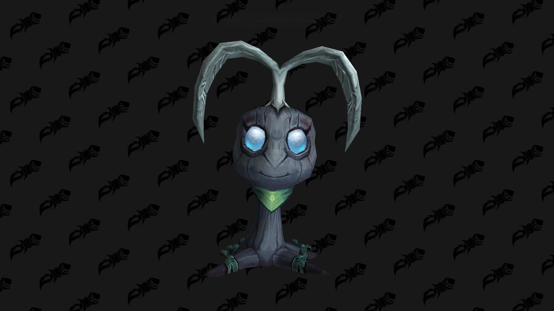 Mousseron, mascotte Shadowlands disponible auprès de la congrégation des Faë nocturnes