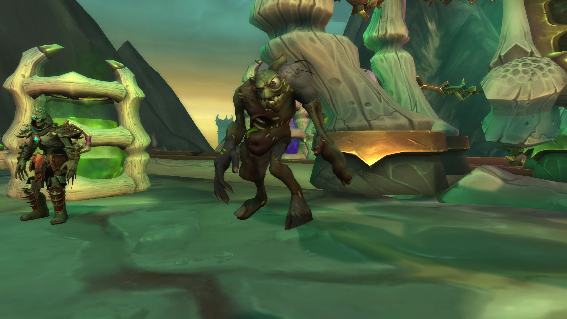 Mu'dud, mascotte Shadowlands qui peut être conçu à la Fabrique des abominations