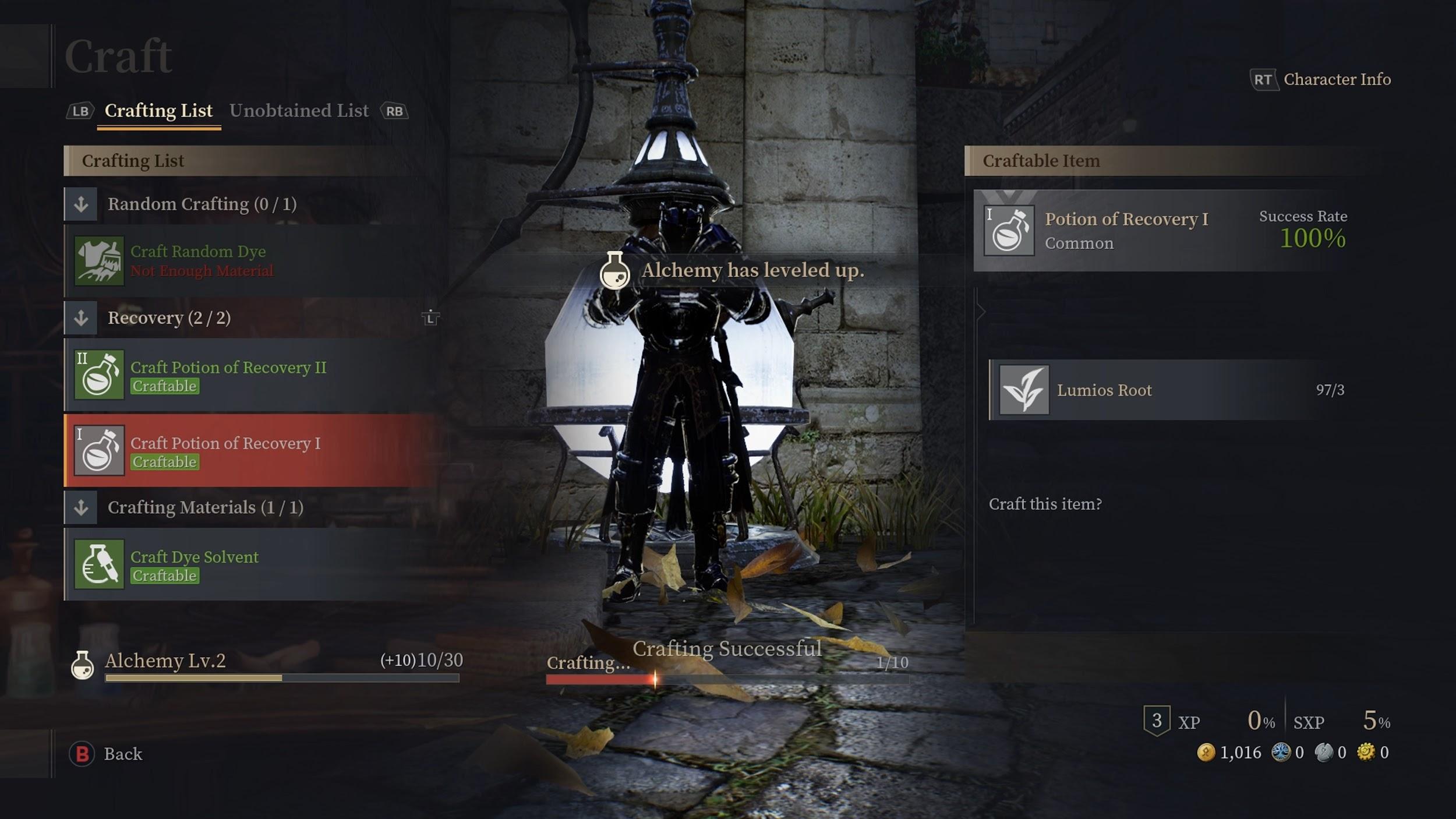 Bless Unleashed :métier de l'Alchimie