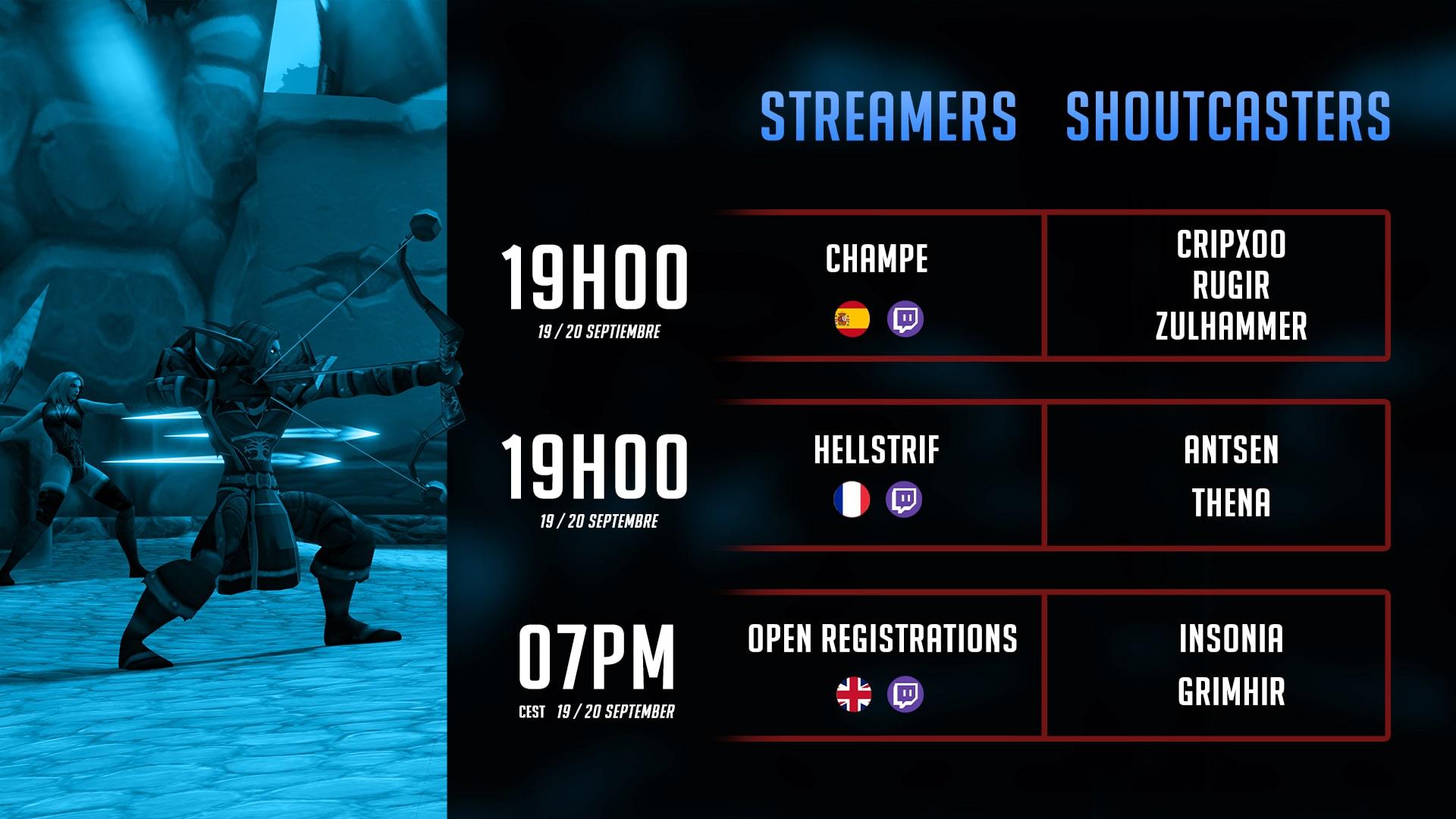 Suivez l'événement sur les différents streams en espagnol, en français ou bien encore en anglais