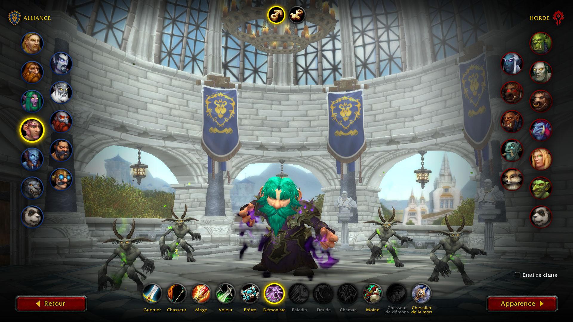 Prép-patch 9.0 : Nouvelle interface de création de personnage dans WoW