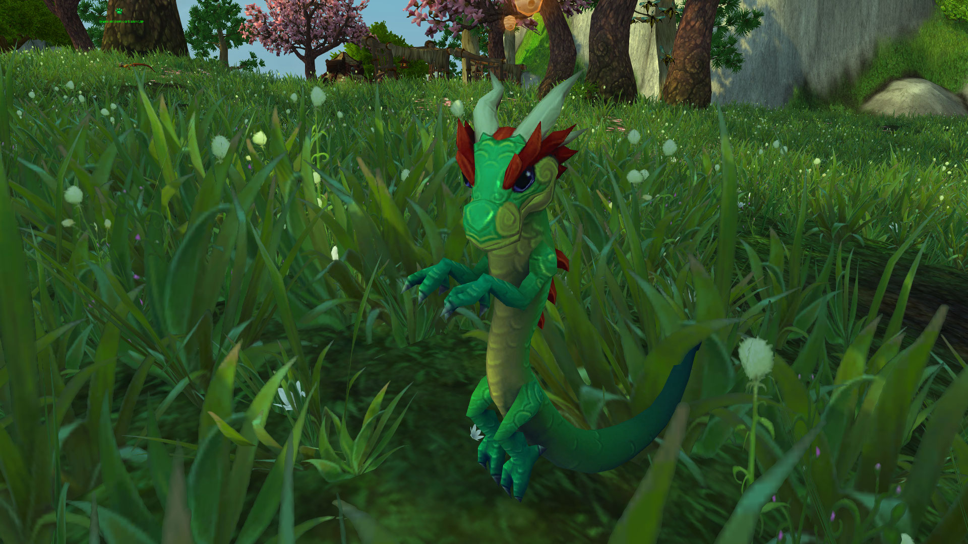 Jeune serpent de jade sauvage