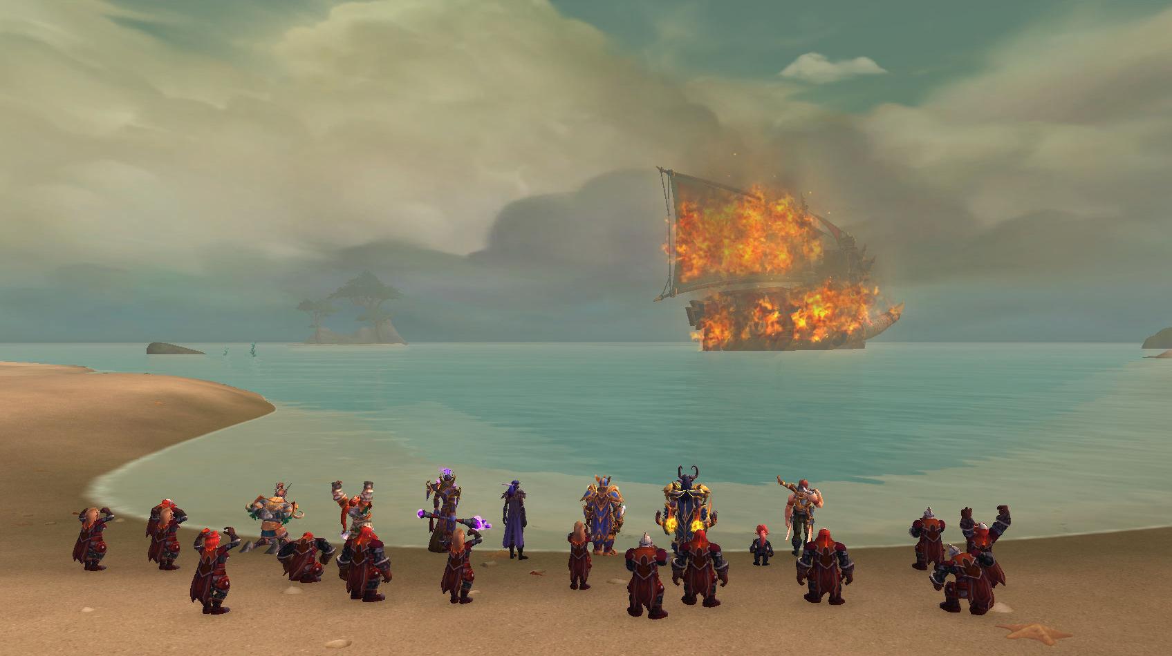L'Alliance piège les navires de la flotte zandalari