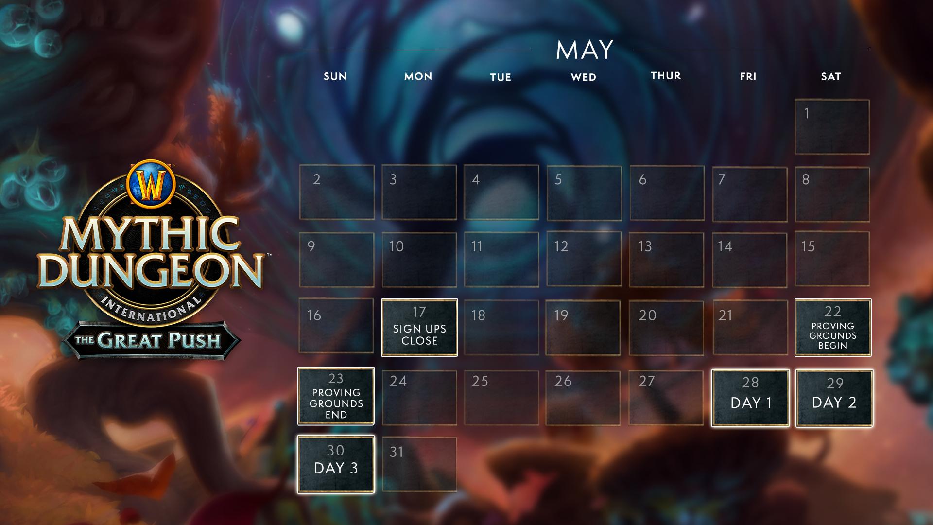 Tournoi The Greath Push : du 28 au 30 mai 2021