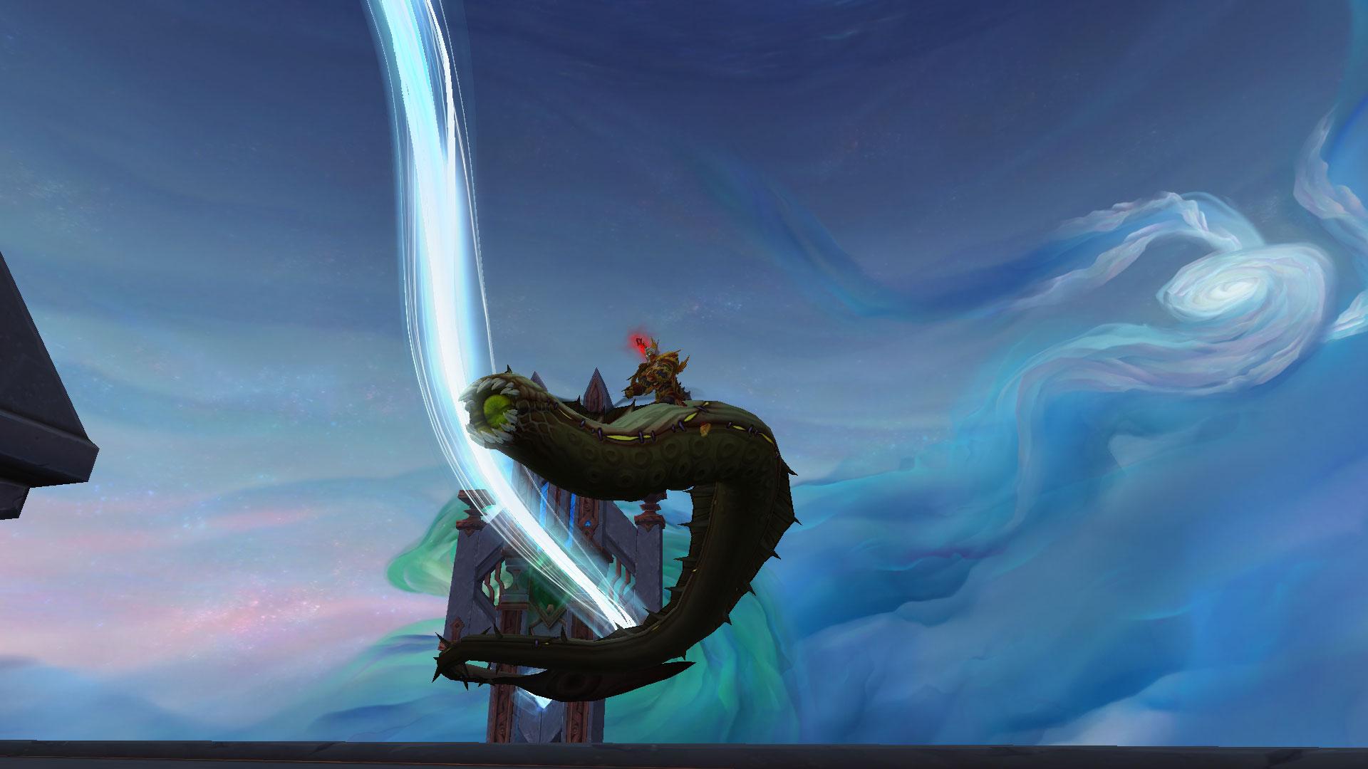 Ozdat, sur Hyjal, et sa monture Serpent visqueux de Shadowlands