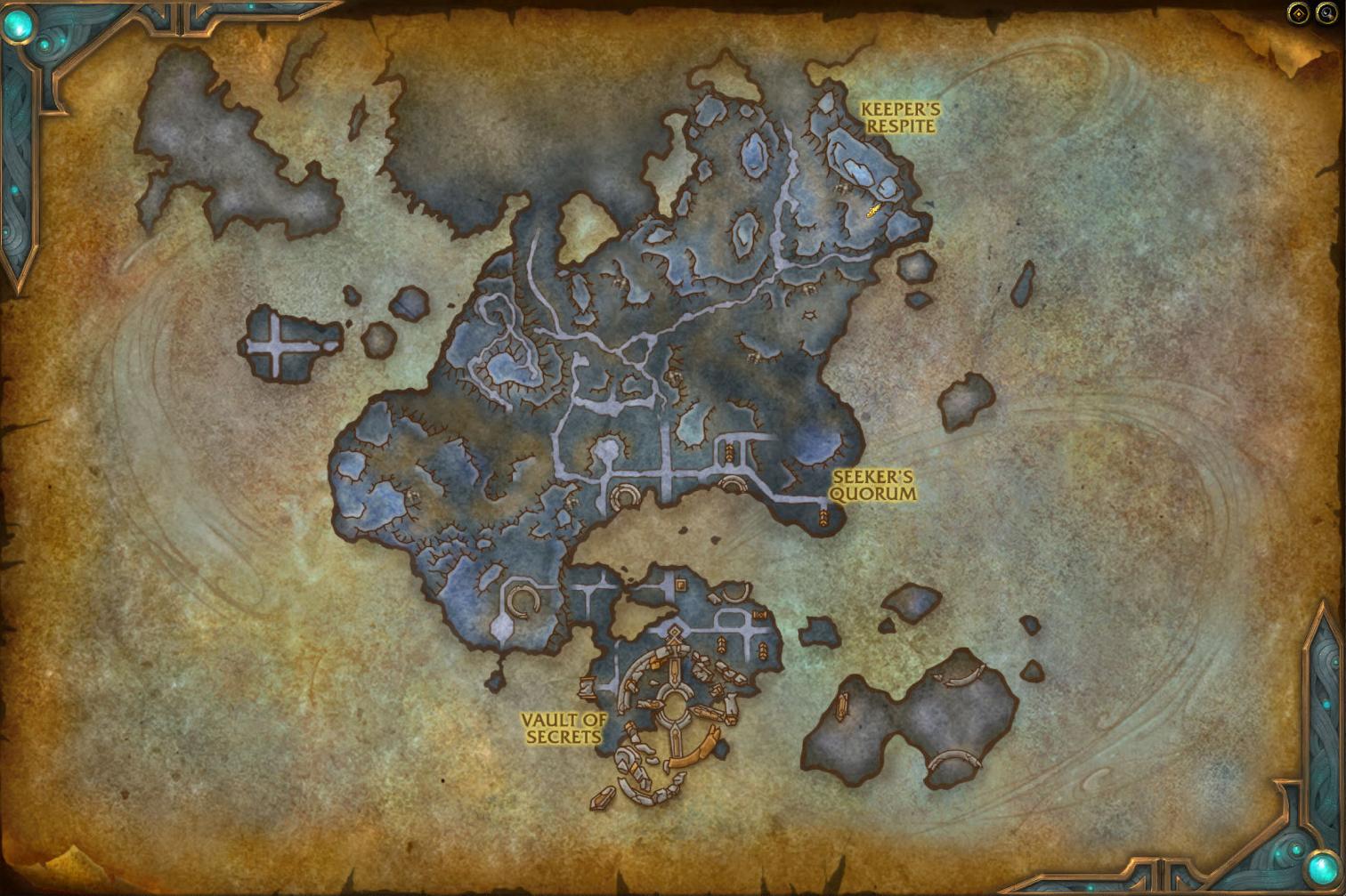Korthia est située au Sud de L'Antre dans Shadowlands