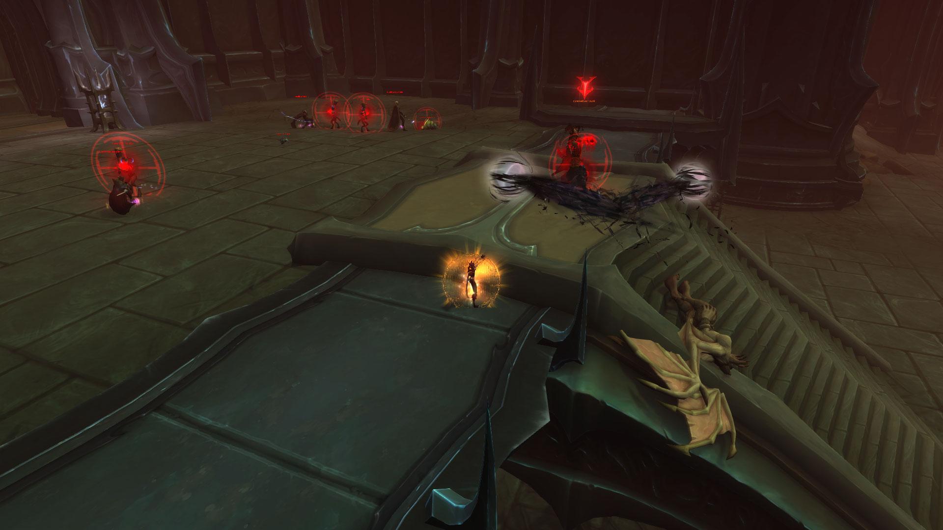Les créatures élites peuvent faire apparaître des conduits funestes (affixe) qui infligent aux joueurs des dégâts