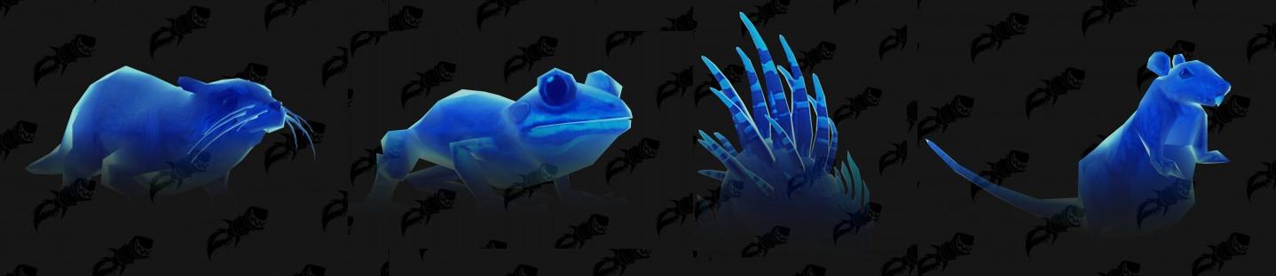 Formes d'âme (non confirmées) : loutre, grenouille, porc-épic et souris