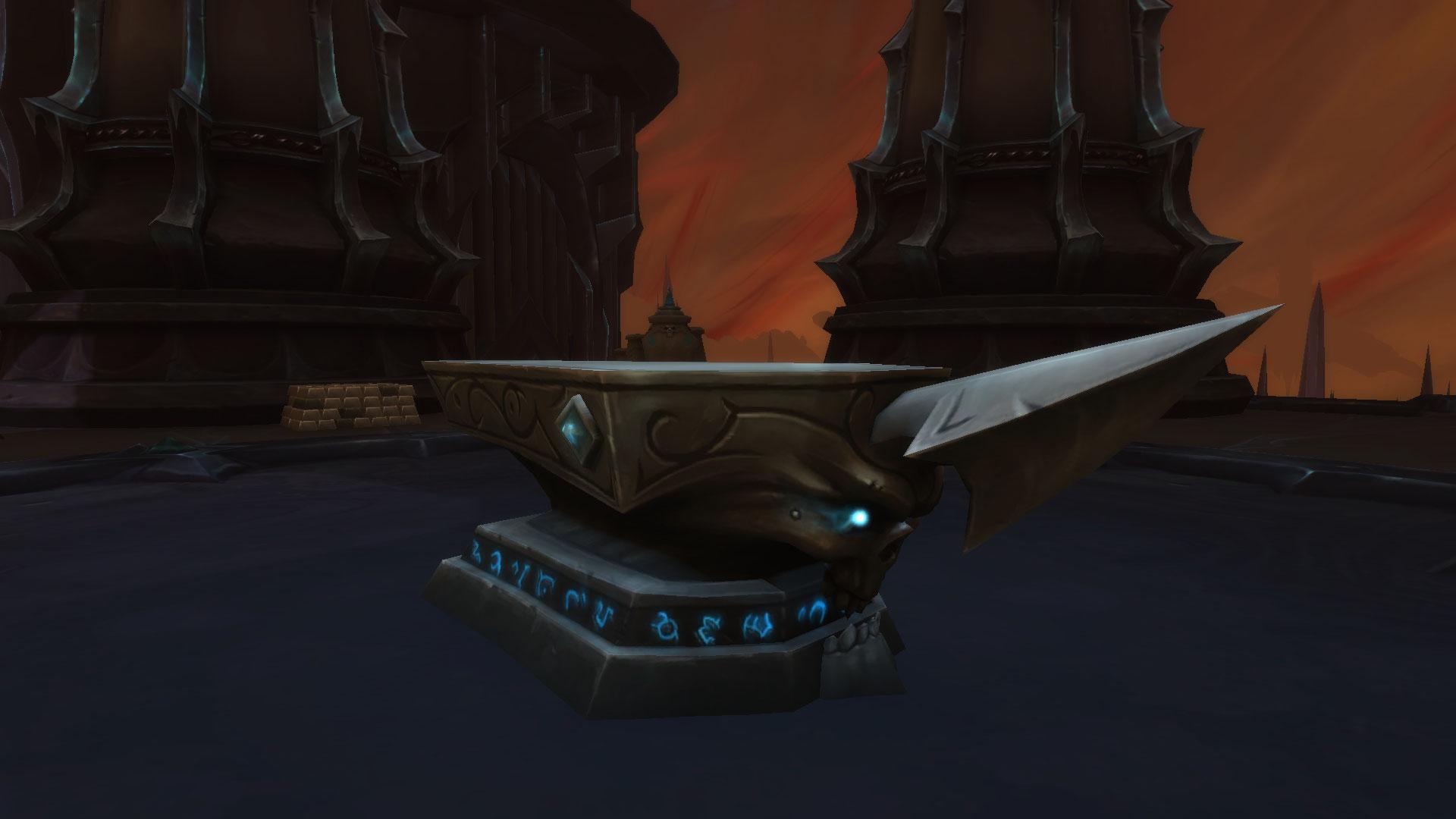 L'enclume de la Forge de l'âme permet d'accéder à une interface d'artisanat