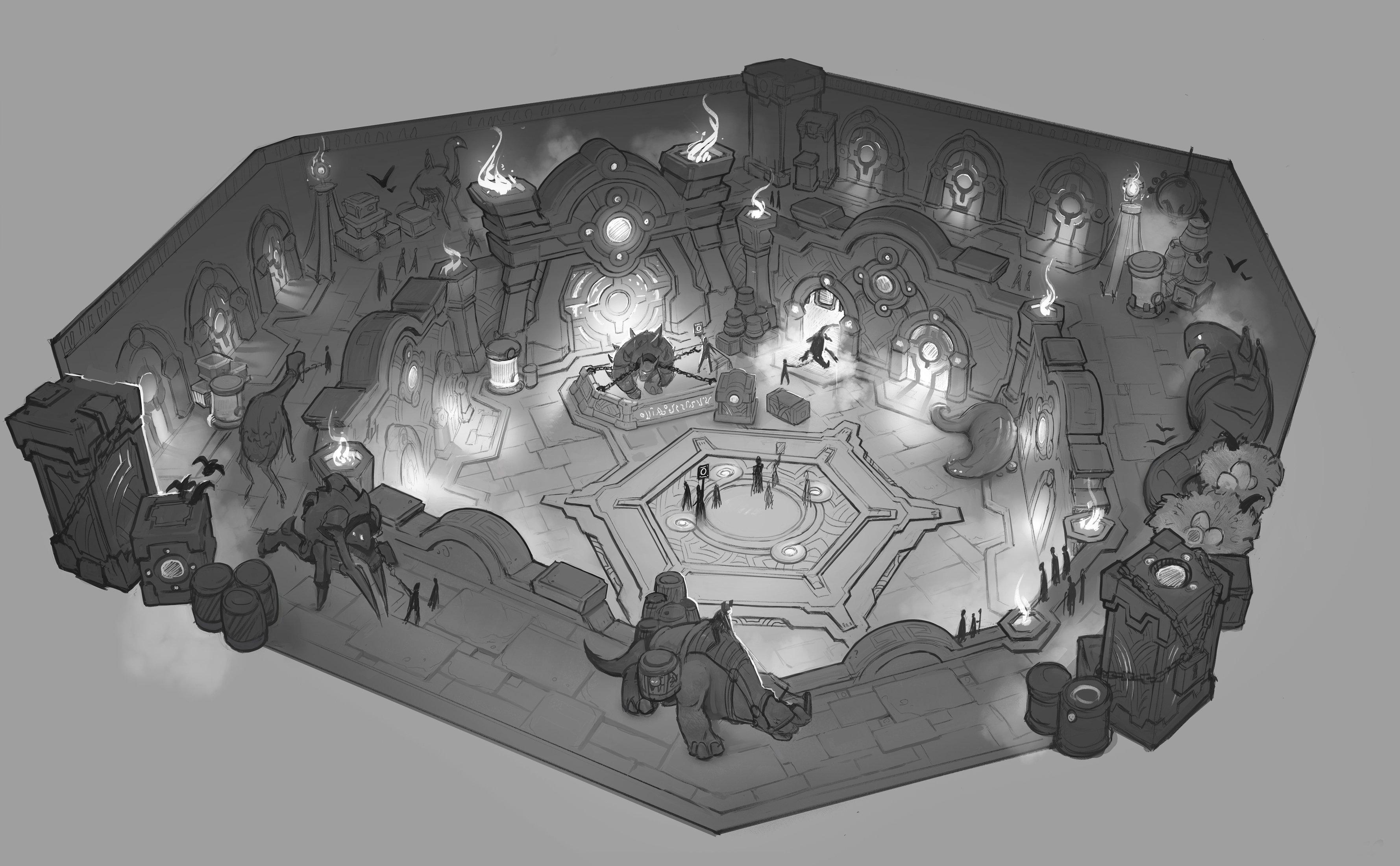 Concept et artwork du patch 9.1 Chains of Domination