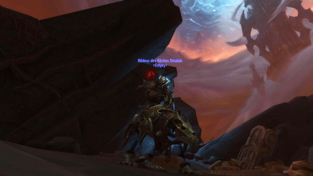 Dinalak (Hyjal) et la monture Rôdeur des couloirs de Shadowlands