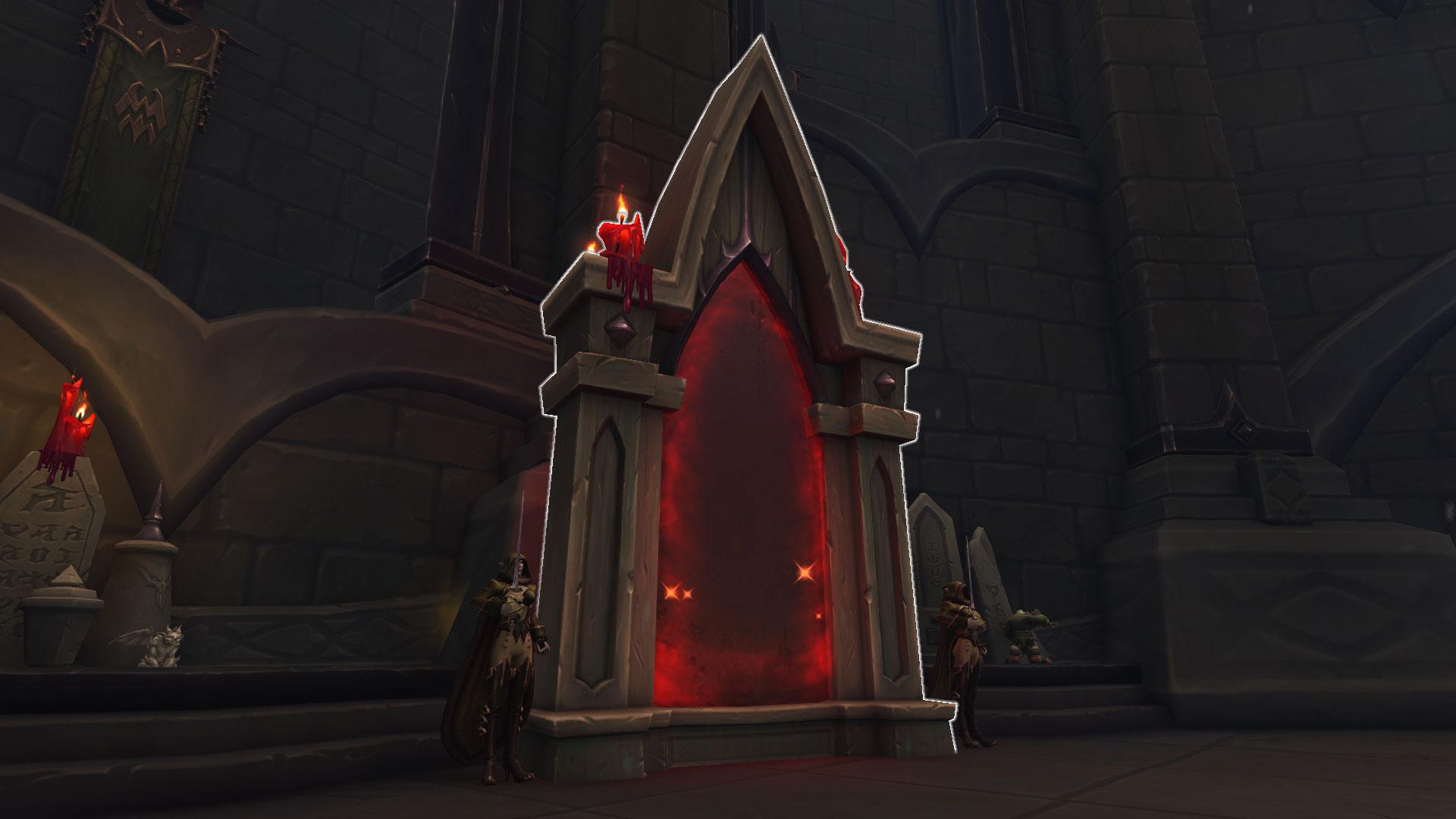 Porte d'accès à l'assaut à Tombe-vice