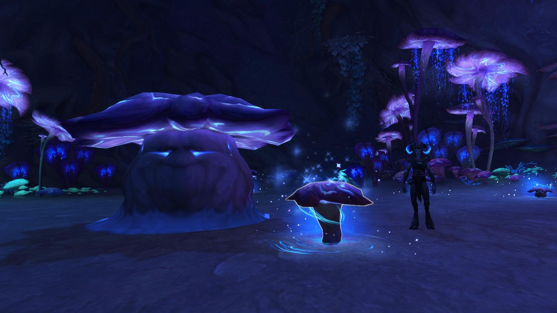 Prenez le champignon près de Marasmius