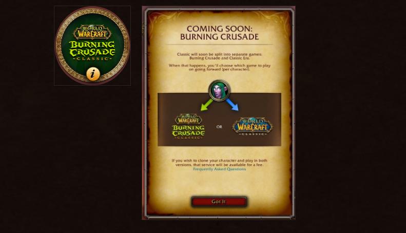 Burning Crusade Classic : Faîtes votre choix