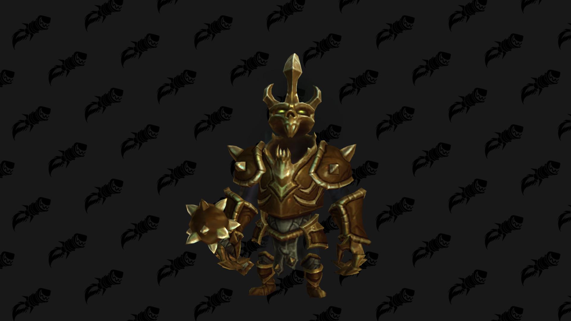 Mascotte Shadowlands patch 9.1 : Sombrecavalier doré
