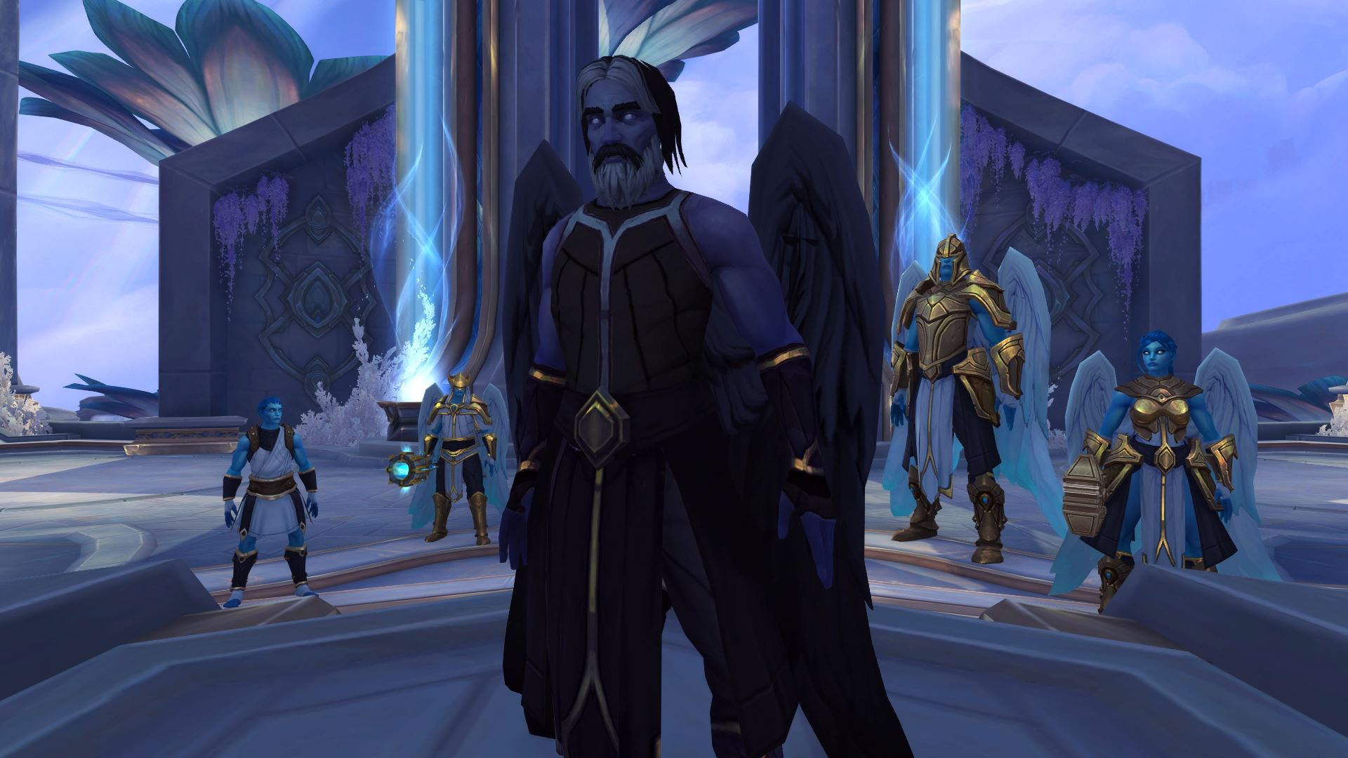 Uther et ses compagnons Kyrians