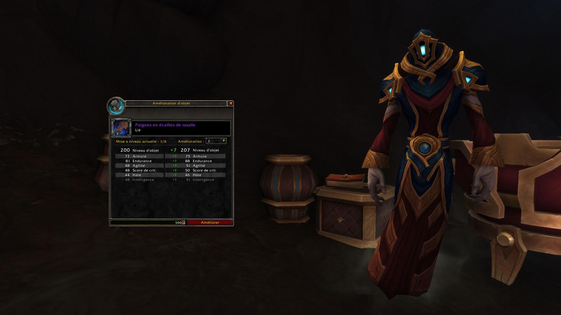 L'assistant Kah-Vez améliore votre équipement obtenu à Korthia