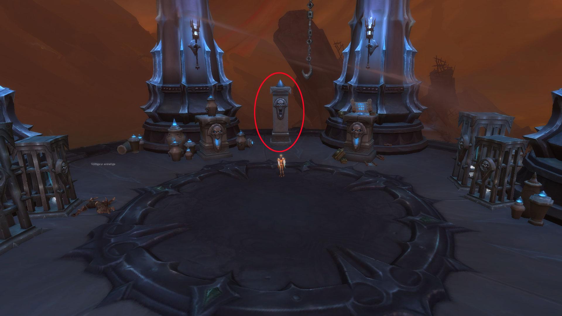 Cliquez sur l'autel pour obtenir une nouvelle quête