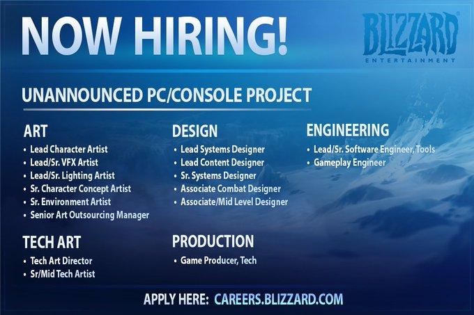 L'offre d'emploi peut être consulté directement sur la page officielle de Blizzard