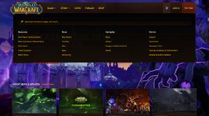 Home Page Drop-Down Menus