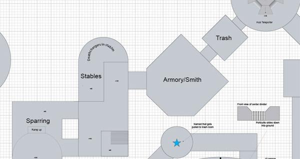 Première conception du quartier militaire
